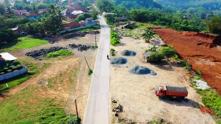 megye : A Farm To Market Road Over A Rural Area. west java. Indonesia