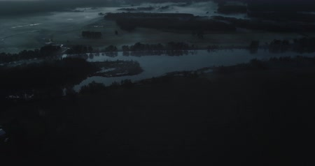 australian landscape : Coast Hinterland in South East Queensland Before Dawn. Australia. Drone shot
