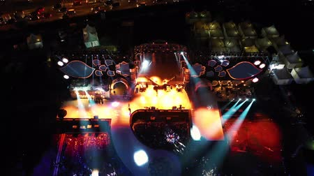 viver : Aerial Shot Of A Concert At Night In The Open Air