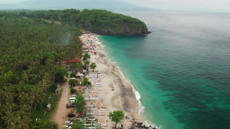 kąpiel : Beautiful Tropical Beach. Aerial View. Bali. Indonesia