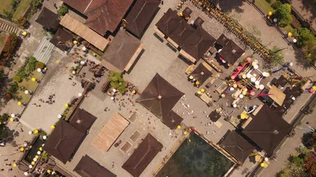escala : Aerial View Of People Visiting A Preserved Temples. Indonesia.