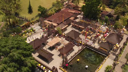 starožitnosti : Aerial View Of People Visiting A Preserved Temples. Indonesia.