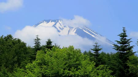 time flow : Mt.Fuji and Flow of the cloud, Yamanashi Prefecture, Japan.