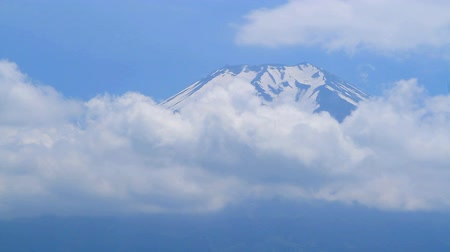 japan : Mt.Fuji and Flow of the cloud, Yamanashi Prefecture, Japan.