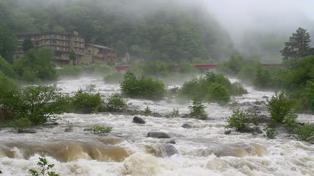 japan : Mountain river after typhoon.
