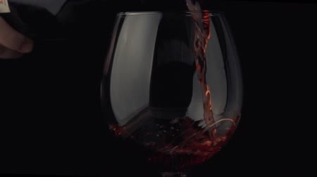 bordeauxdog : pouring wine from a bottle into a glass slow motoin