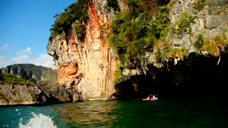 sand lia : View from the floating boat. Krabi, Thailand
