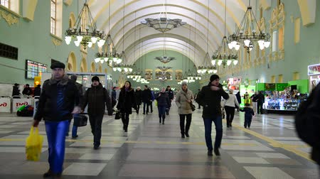 ponto de referência : MOSCOW, RUSSIA — February 18.2016.  The interior of the Kazansky railway station. Built in 1862.