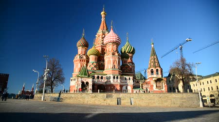 kreml : St. Basils Cathedral on Red Square in Moscow, Russia