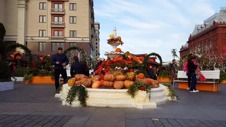 festividades : Moscow, Russia - November 09. 2016. Moscow Autumn - gastronomic festival in Manezh Square