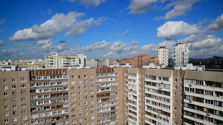 foster : Cityscape with beautiful sky in Moscow Russia Stock Footage