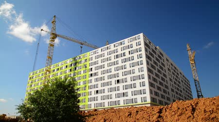 área de trabalho : Construction of residential buildings in Moscow, Russia