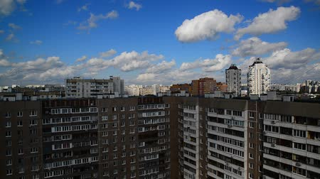 foster : City landscape in Sunny Summer day in Moscow, Russia Stock Footage