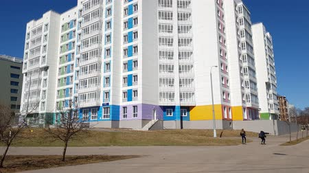 administracja : Moscow, Russia-April 22.2018. new multi-storey house in Zelenograd