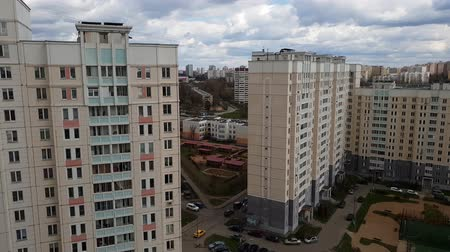 administracja : Moscow, Russia - April 29. 2018. view of sleeping area in the Zelenograd administrative district Wideo