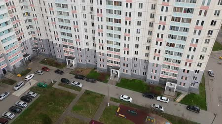 cesty : Top of courtyard of residential building in Moscow, Russia.
