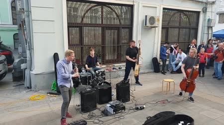 choral : Moscow, Russia - April 30. 2018. performance of group of street musicians