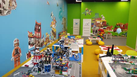 car designer : Moscow, Russia - May 15. 2018. Lego education - afterschool program