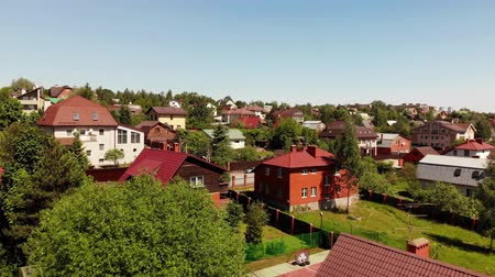 bricks : View of village near Moscow from top, Russia