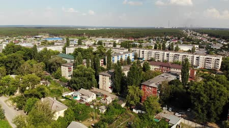 voronezh : Lipetsk, Russia - Aug 5. 2018. view of Levoberezhny district and Zoya Kosmodemyanskaya street