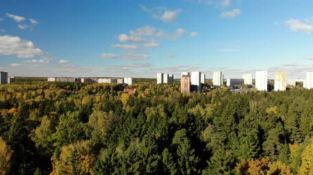 high rises : Russia. sleeping area of Moscow surrounded by forests