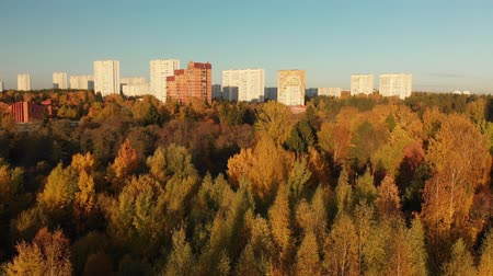 opadavý : Zelenograd district of Moscow in autumn On the Sunset, Russia Dostupné videozáznamy