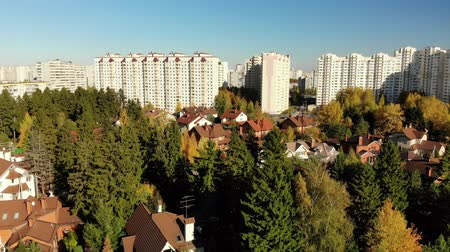 high rises : upward movement of cottage village near Moscow, Russia