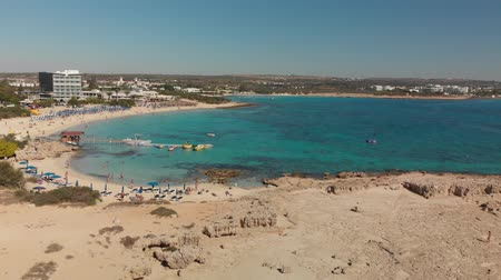 Ayia Napa, Cyprus - November 1. 2018. View from above on Makronissos Beach Resort Vídeos