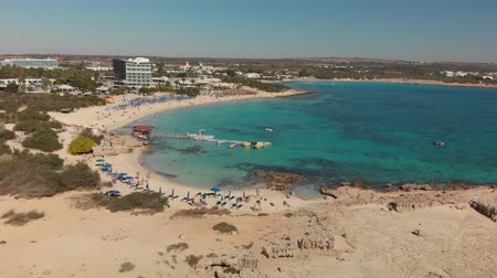 plavec : Ayia Napa, Cyprus - November 1. 2018. View from above on Makronissos Beach Resort Dostupné videozáznamy