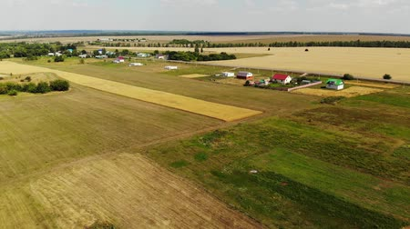 agricultural economy : Rural autumn landscape from height in Russia