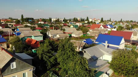 homeopático : Gryazi, Russia - August 2.2018. typical one-story city in central part of country Stock Footage
