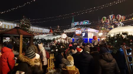 Moscow, Russia - January 7.2019. Christmas Fair on the Red Square