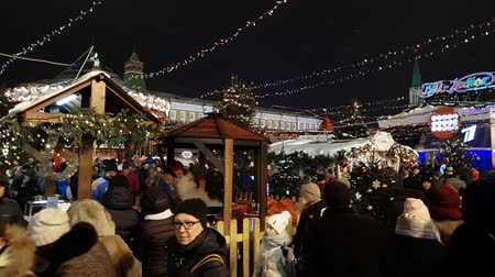 kreml : Moscow, Russia - January 7.2019. Christmas Fair on the Red Square