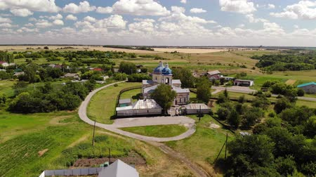 church of the nativity : Summer rural landscape with orthodox temple in Russia