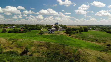 built up : Summer rural landscape with orthodox temple in Russia