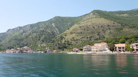 адриатический : View of Prcanj from Kotor Bay, Montenegro