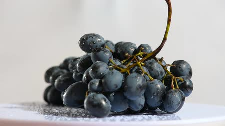 fresh produce : Camera sliding and spin around bunch of grape