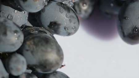 fructose : Camera rotation , focus and spin around grape Stock Footage