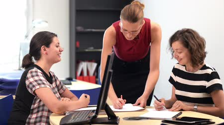 Business women working at office