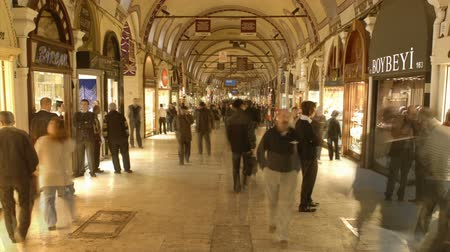turecko : Time lapse of people in the Grand Bazaar, Istanbul, Turkey