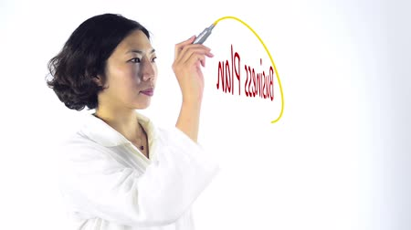nápad : Woman making a business plan on an interactive whiteboard Dostupné videozáznamy