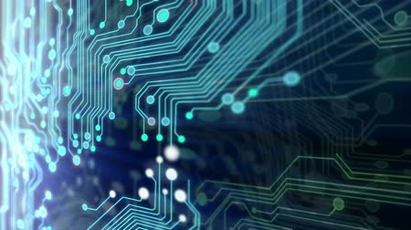 desteklemek : Animated printed circuit board background