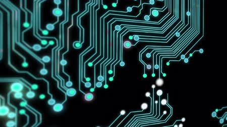 oluşturulan bilgisayar : Animated printed circuit board background