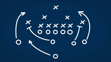 planı : Interactive whiteboard diagrams of football strategies Stok Video