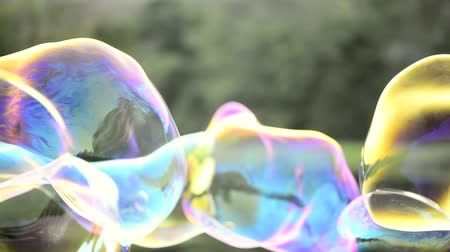 creativity : Giant soap bubbles in the park