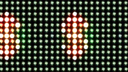 dijital oluşturulan görüntü : Moving lights on a panel showing the $ sign. Loopable