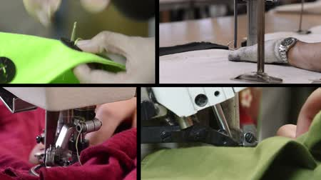 metal worker : Montage of industrial sewing clips Stock Footage