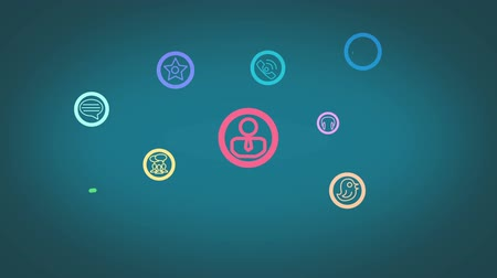 sociedade : Social networking animation