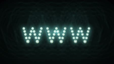 широкий : Animated lights spelling out www Loopable
