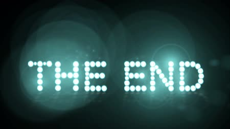 generált : Animated lights spelling out The End. Loopable Stock mozgókép